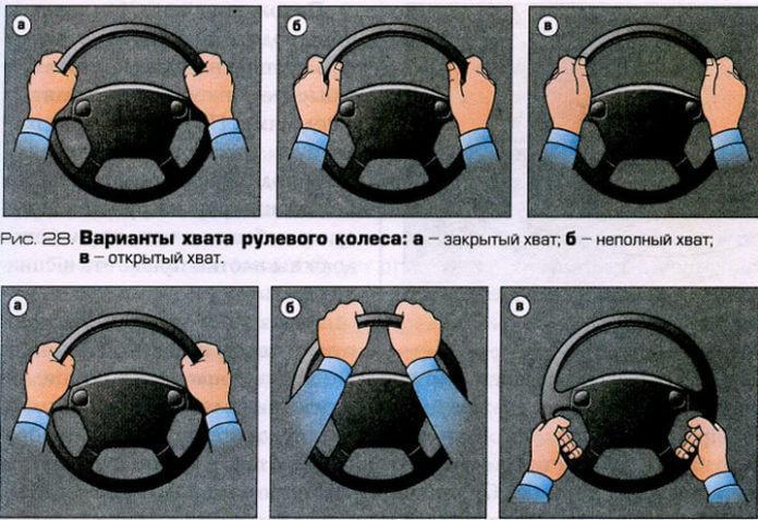 Как правильно держать руки на руле